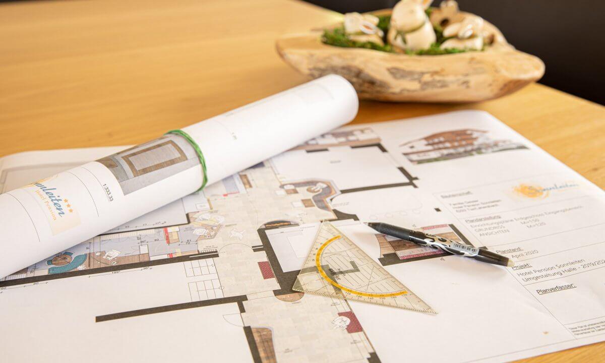 Bauplan Umbau Halle 2020