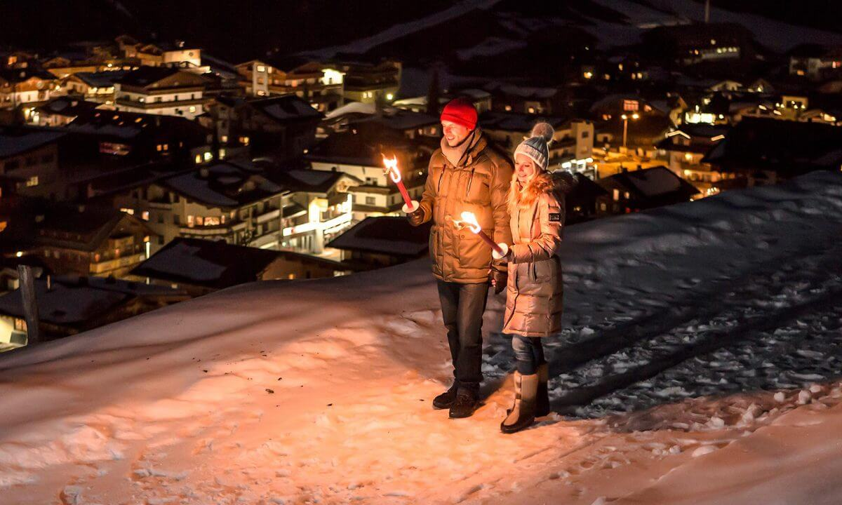 Fackelwanderung Lanersbach Winter