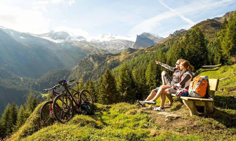 Mountainbiken Tux Rast mit Aussicht