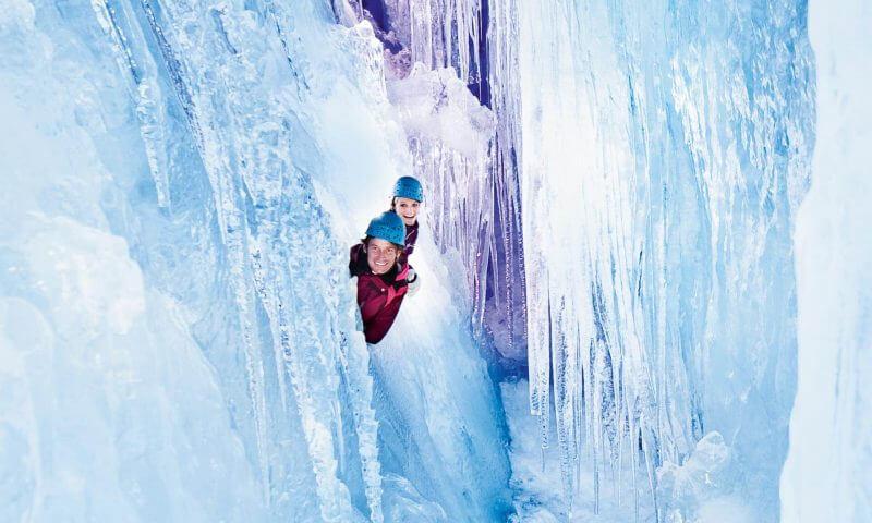 Natur Eis Palast Hintertuxer Gletscher