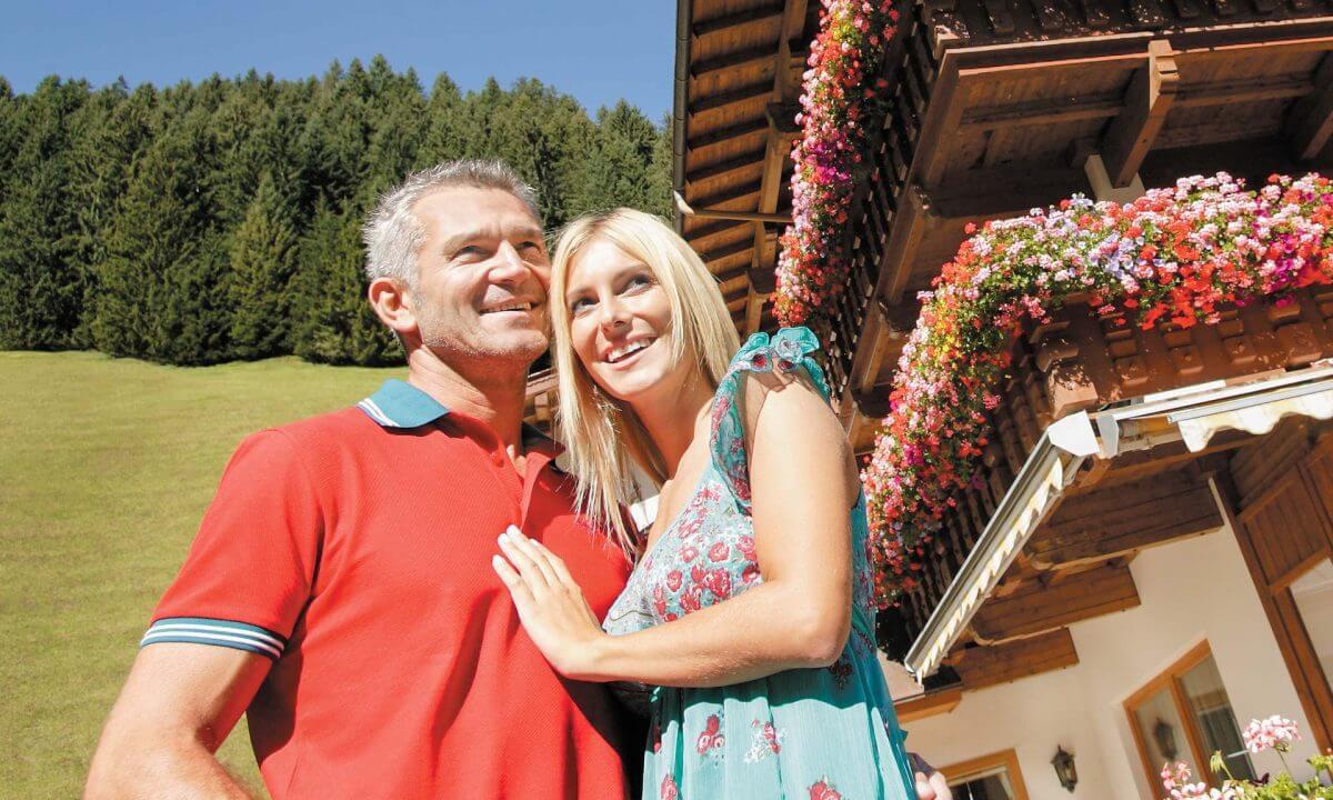 Paar Urlaubsfeeling Sonnleiten
