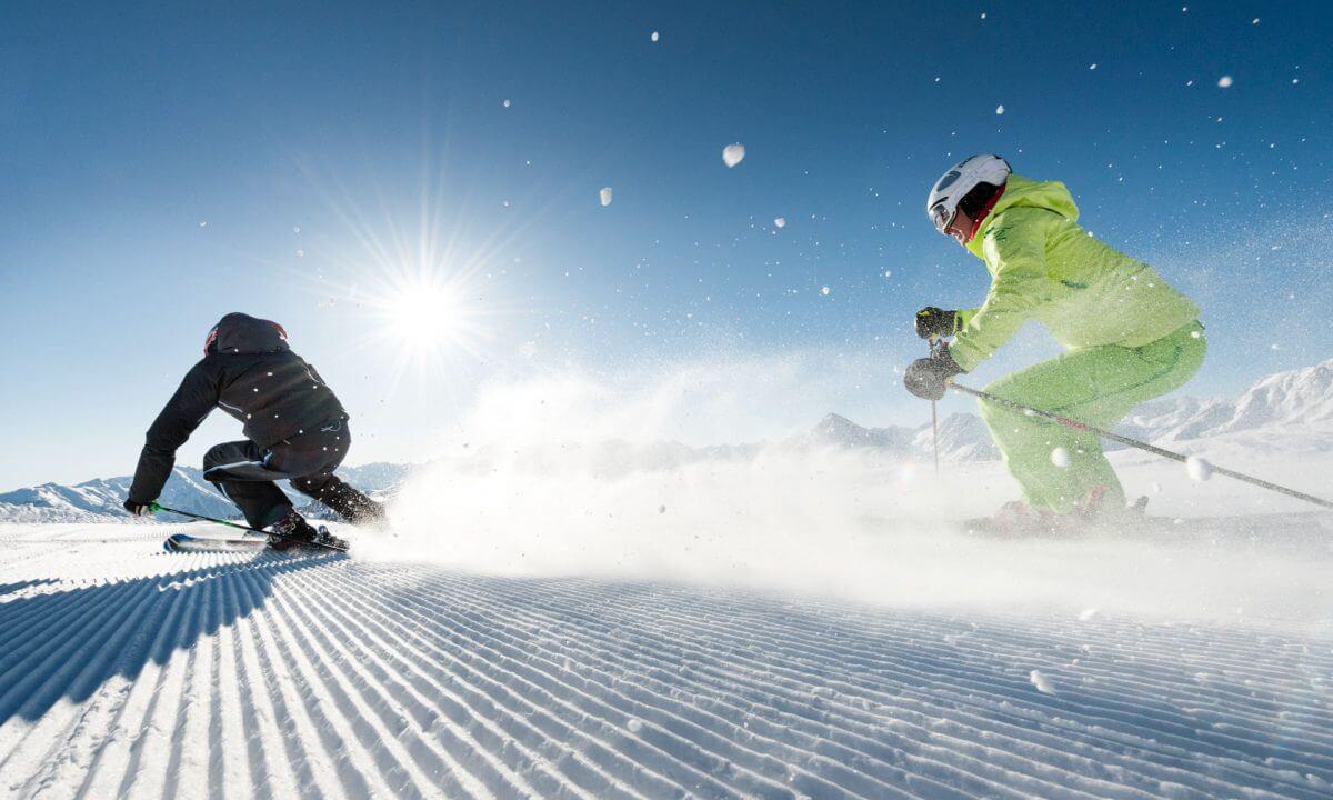 Skifahren Zillertal erste Spur