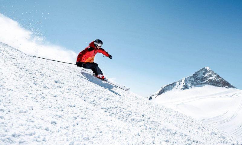 Skifahrer Hintertuxer Gletscher