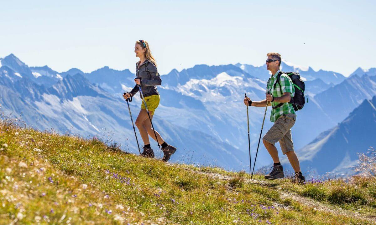 Wandern Paar Tux